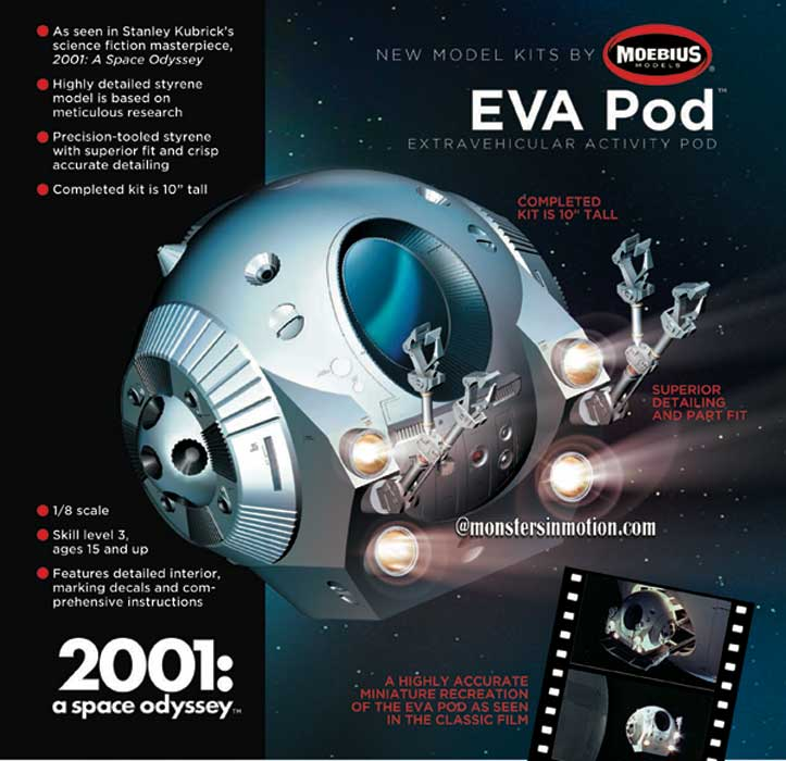 2001: A Space Odyssey EVA Pod 1/8 Scale Model Kit Moebius
