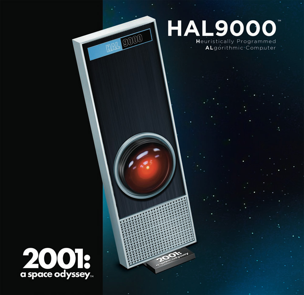 2001: A Space Odyssey Hal 9000 Model Kit with Lights by Moebius NEW!