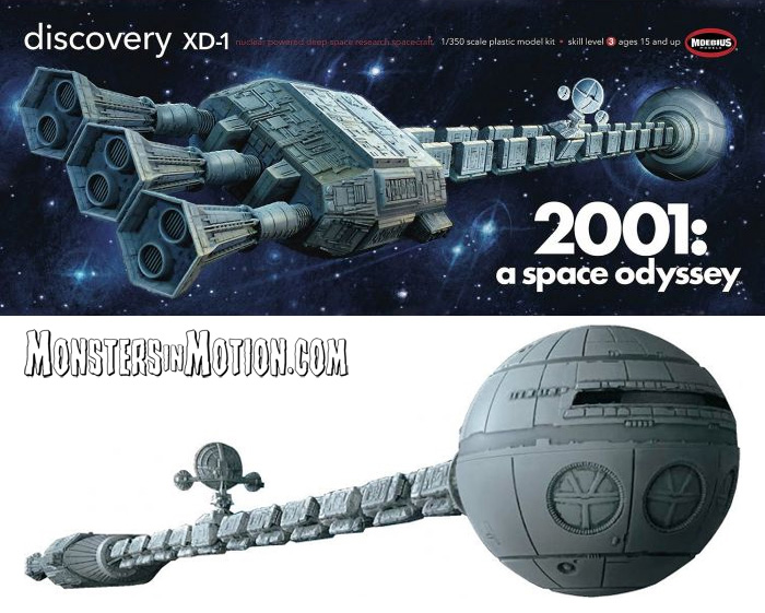 2001: A Space Odyssey Discovery 1/350 Scale Model Kit by Moebius