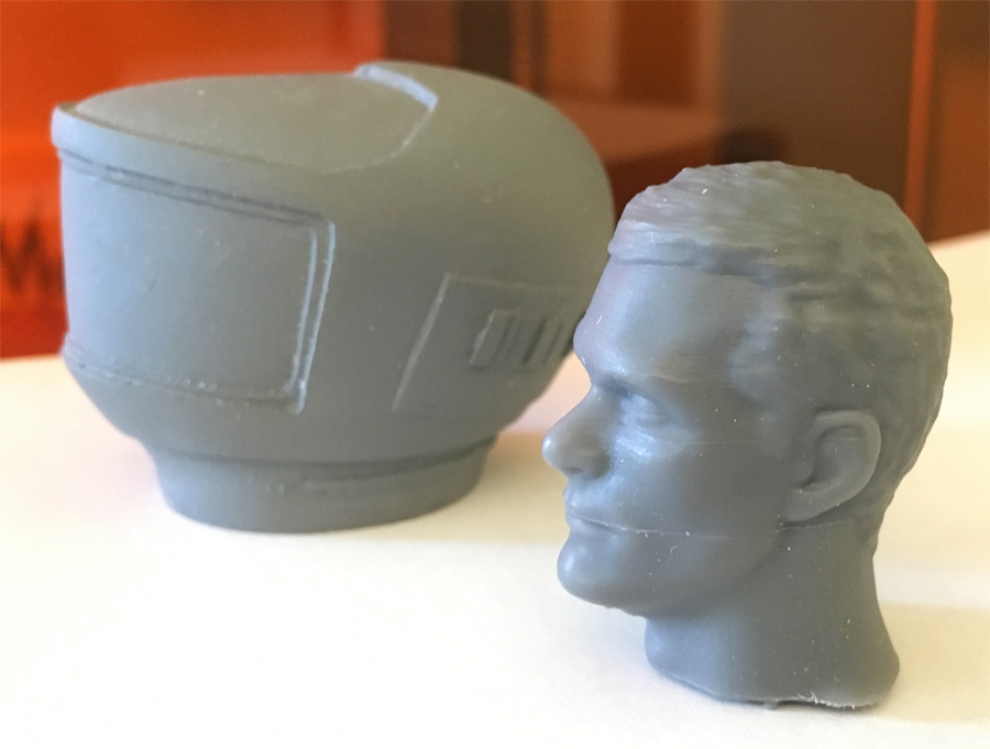 2001: A Space Odyssey EVA Pod 1/8 Scale Astronaut Replacement Head (Dave Bowman) for Moebius Model Kit