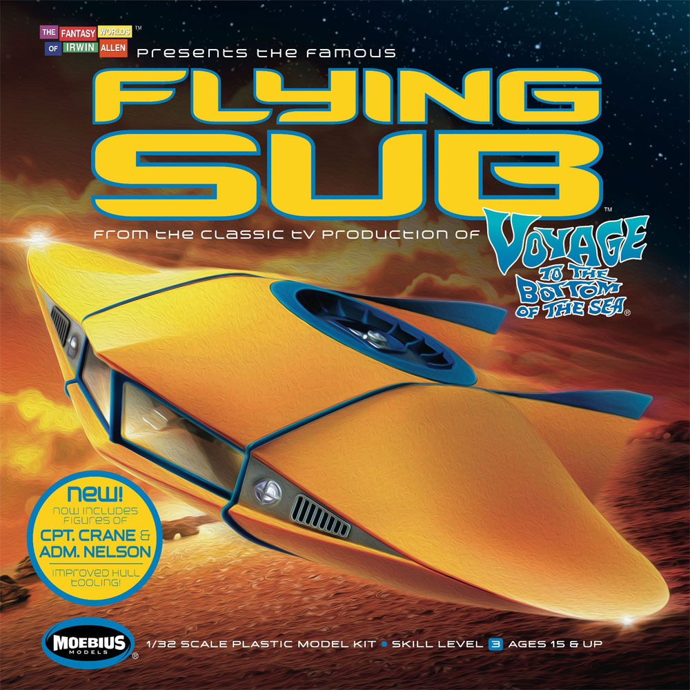 Voyage to the Bottom of the Sea Flying Sub 1/32 Scale Deluxe Model Kit