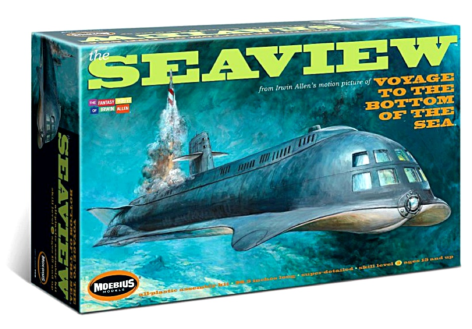 Voyage to the Bottom of the Sea MOVIE Seaview 1:28 Model Kit by Moebius