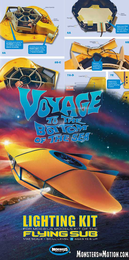 Voyage to the Bottom of the Sea Flying Sub 1/32 Scale Light Kit by Moebius