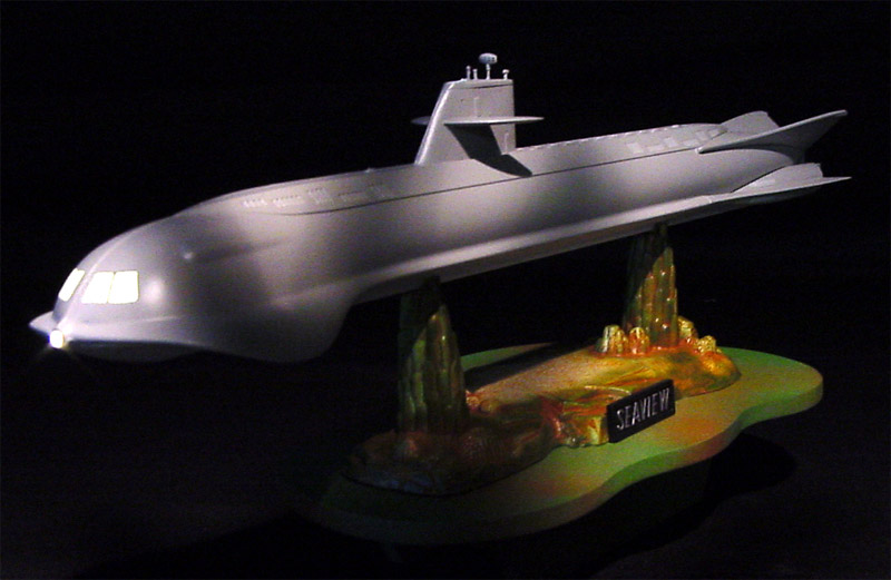 Voyage to the Bottom of the Sea Seaview 1:350 4 Window Light Kit for Moebius