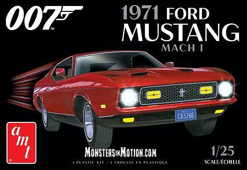 James Bond 007 Diamonds are Forever 1971 Ford Mustang Mach 1 1/25 Scale Model Kit AMT Re-Issue