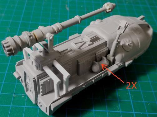 Space 1999 Moonbase Alpha Tank Type B 1/72 Scale Model Kit