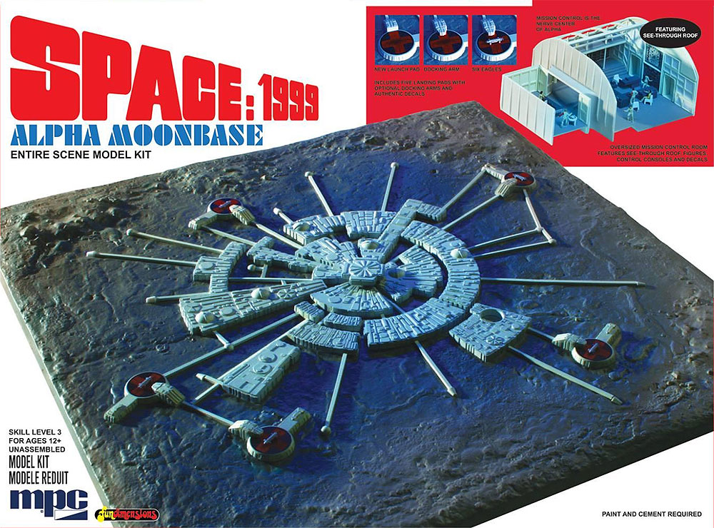 Space 1999 Alpha Moonbase 1:1800 Model Kit MPC Re-Issue