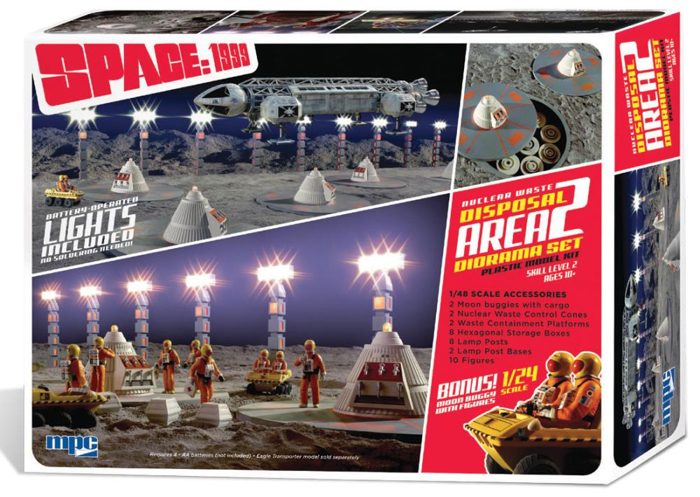 Space 1999 Nuclear Waste Area #2 1/48 Scale Diorama Model Kit with Moon Buggy
