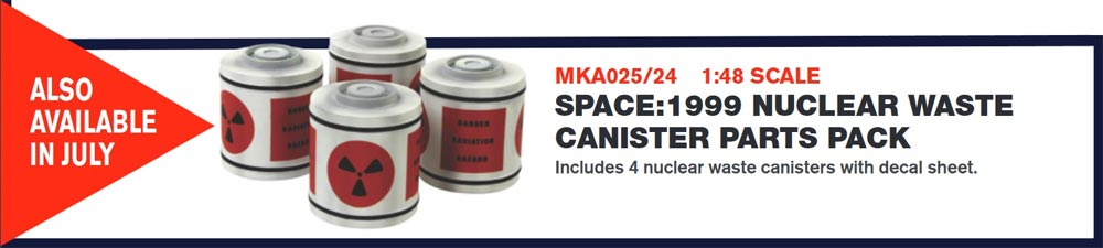 Space 1999 Nuclear Waste Canisters Parts 1/48 Scale Model Kit