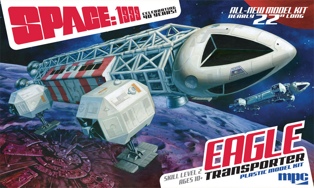 "Space 1999 Eagle Transporter 22"" Long 1/48th Scale Model Kit MPC"