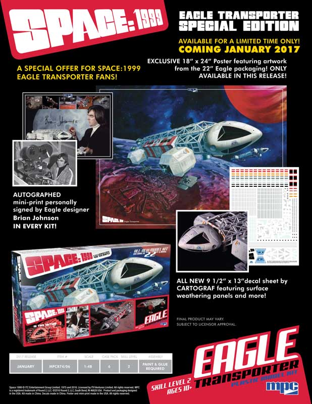 "Space 1999 Eagle Transporter 22"" Long 1/48th Scale SPECIAL EDITION Model Kit MPC"