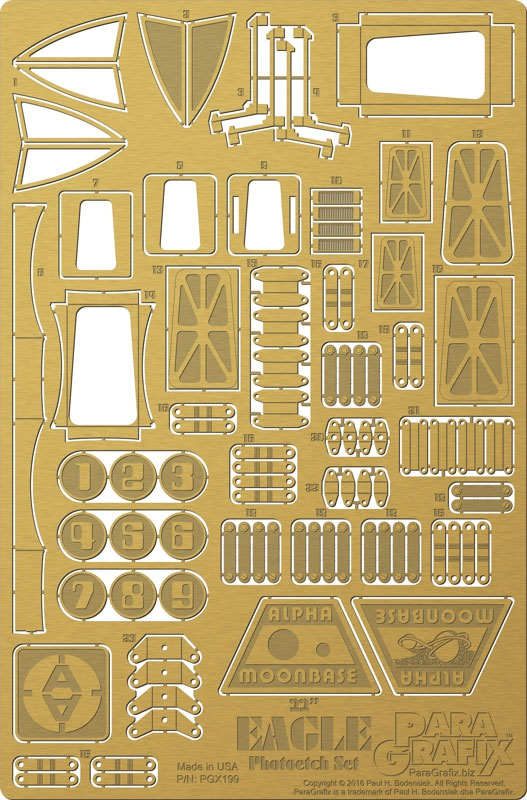 "Space 1999 Eagle Transporter 22"" Long 1/48th Scale Photoetch Detail Set"
