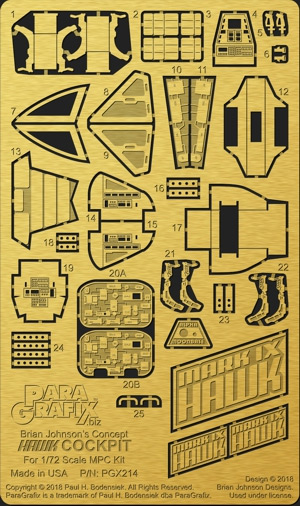 Space 1999 Hawk Spaceship 1/72 Scale Model Kit Photoetch Detail Set