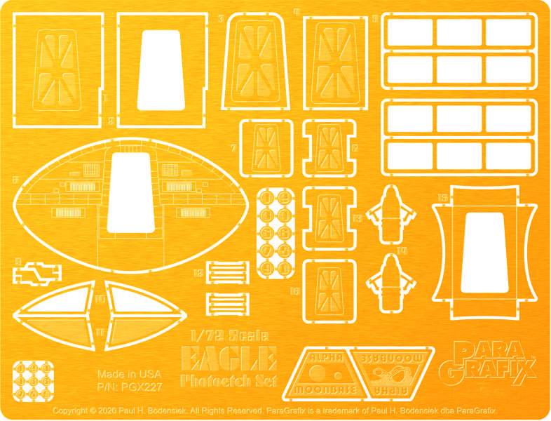 Space 1999 Eagle 1/72 Scale Photoetch Set for MPC Model