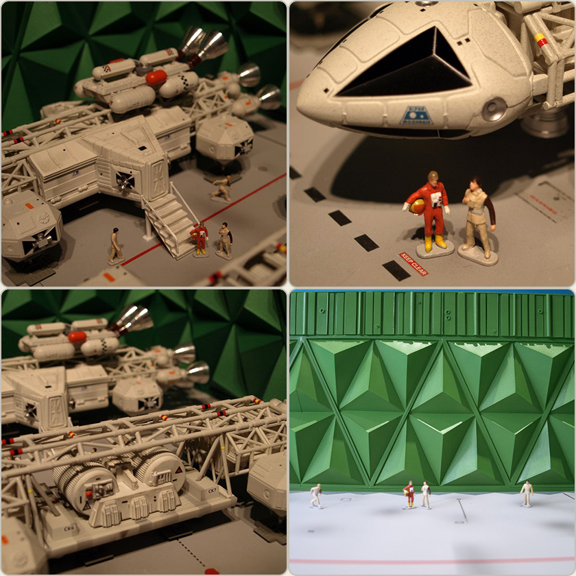 "Space 1999 Moonbase Alpha 12"" Eagle Hanger Set Ultra Deluxe Special Edition by Sixteen 12"