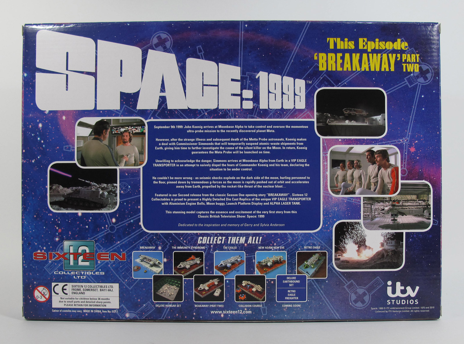 "Space 1999 Eagle Transporter 12"" Die Cast Set 6: Breakaway Part 2 with Moon Tank"