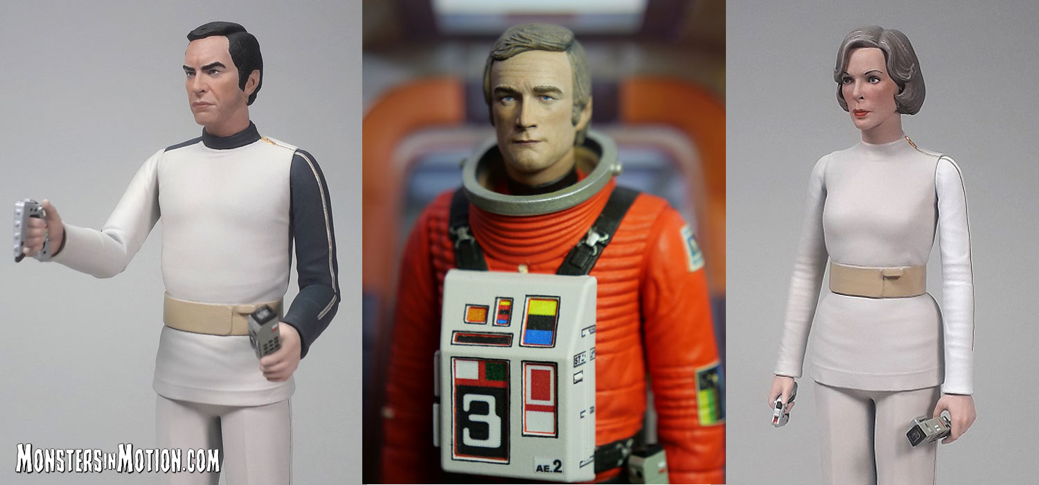 Space 1999 6 Inch Action Figures Wave 1 Set of 3 Koenig, Carter is Spacesuit and Russell