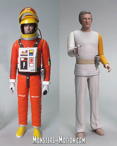 Space 1999 6 Inch Action Figures Wave 2 Set of 2 Koenig in Spacesuit and Carter