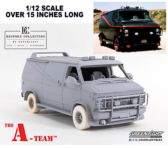 A-Team 1983 TV Series GMC Vandura Bespoke Collection 1/12 Scale Resin Replica - FREE US SHIPPING
