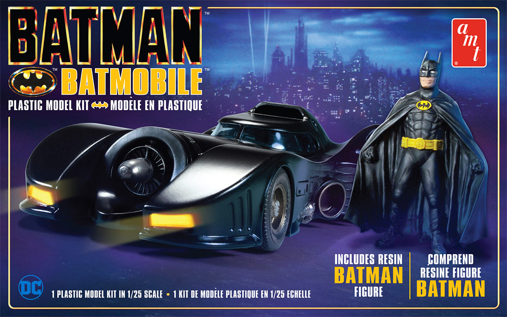 Batman 1989 Batmobile with Resin Figure 1/24 Scale Model Kit