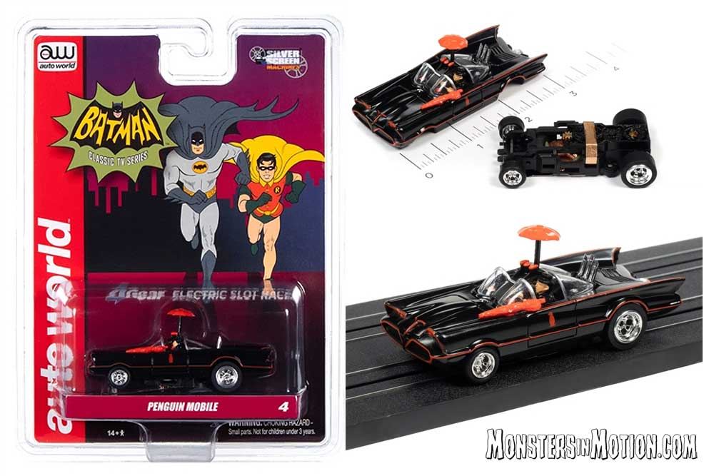 Batman 1966 Penguin Mobile HO Scale Slot Car