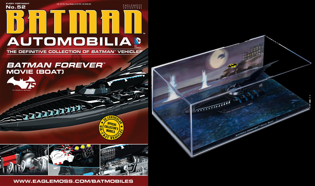 Batman Forever Movie Boat Vehicle with Collector Magazine