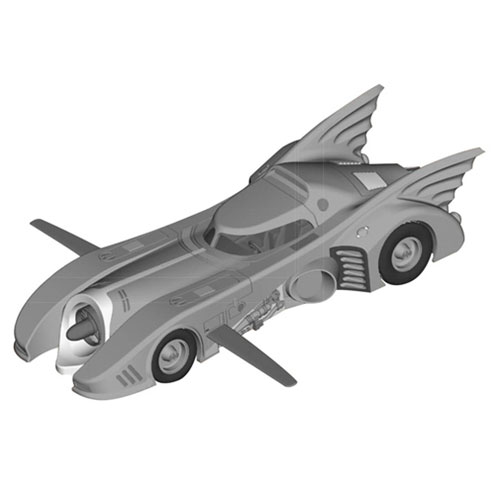 Batman Returns Batmobile Die-Cast Metal Vehicle with Collector Magazine