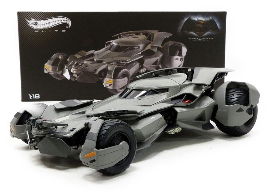 Batman Vs. Superman Batmobile 1:18 Scale Hot Wheels Elite Diecast Vehicle