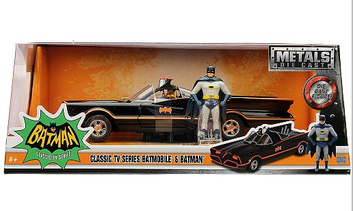 Batman 1966 Batmobile 1/24 Scale Diecast Metal Replica with Figures