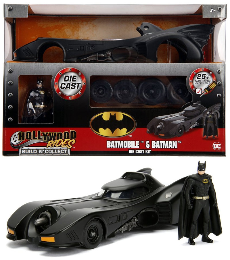 Batman 1989 Movie Batmobile with Figure 1/24 Scale Metal Model Kit