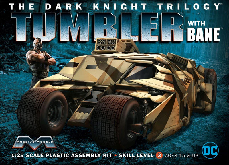 Batman Dark Knight Trilogy Tumbler Batmobile with Bane Model Kit