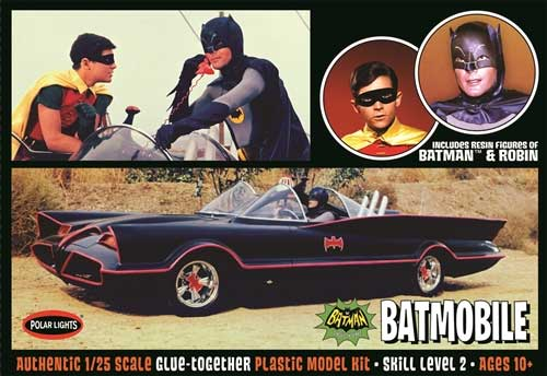 Batman Classic 1966 Batmobile with Figures 1/25 Model Kit