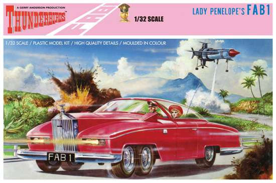 Thunderbirds Lady Penelope's Pink Rolls Royce 1:32 Model Kit Aoshima
