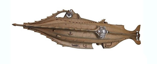 "20,000 Leagues Under The Sea Disney Nautilus 24"" Soft Vinyl Pre-Painted Model Kaiyodo"