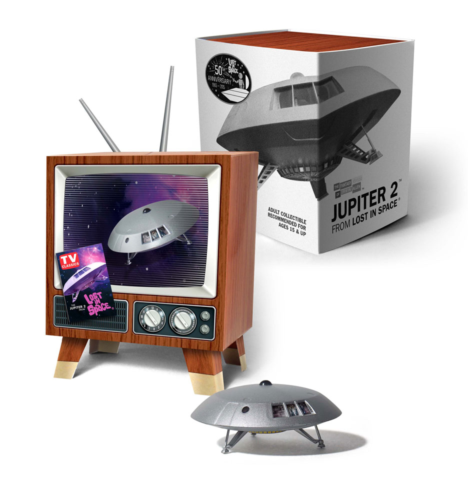 Lost In Space Jupiter 2 Mini Display Model in Retro TV