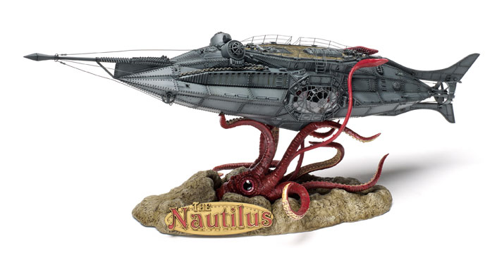 20,000 Leagues Under the Sea Nautilus 1/144 Injected Plastic Model Kit
