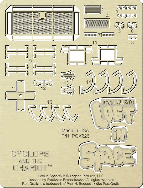 Lost In Space Cyclops and Chariot Photoetch Detail Set for 1/48 Scale Model Kit