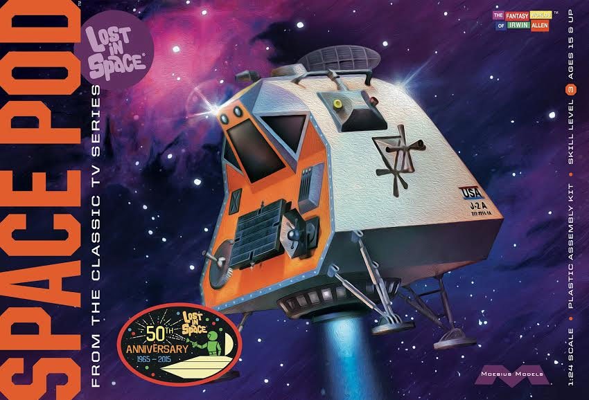 Lost In Space Space Pod 1/24 Scale Plastic Model Kit