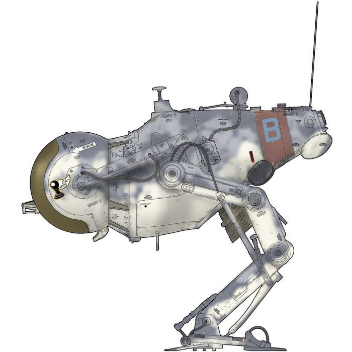 Maschinin Krieger LUM-168 Camel Lunar Tactical Reconnaissance Craft (Operation Dynamo) 1/20 Scale Model Kit by Hasegawa