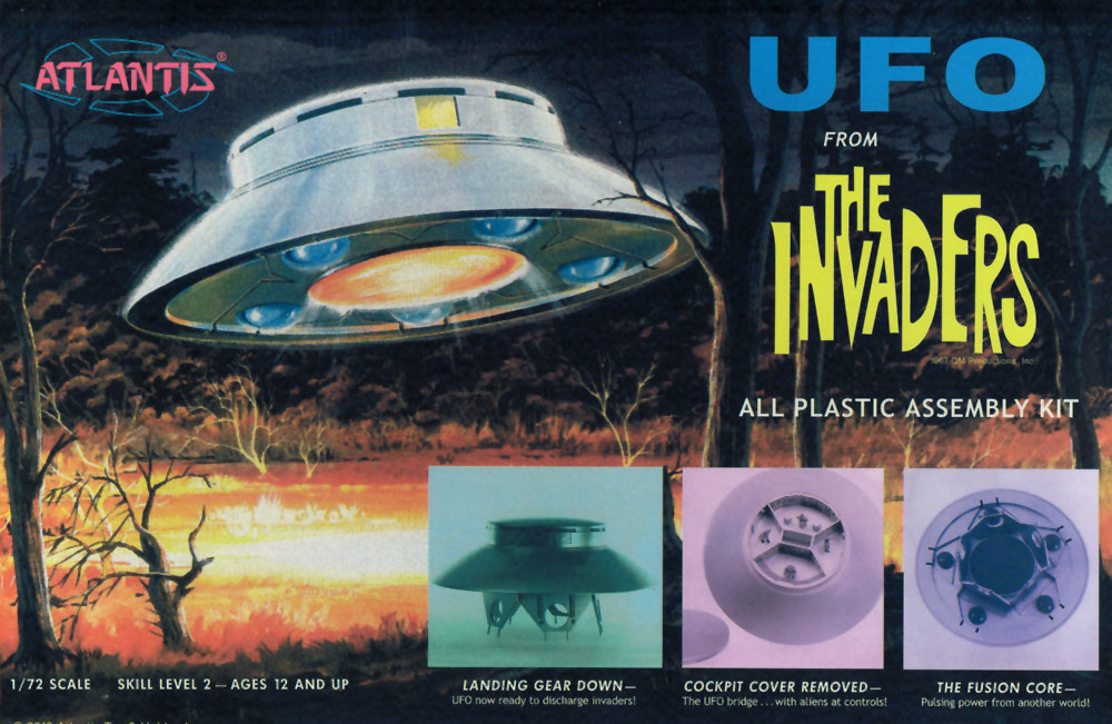 Invaders TV Series U.F.O. Aurora Re-Issue Model Kit by Atlantis