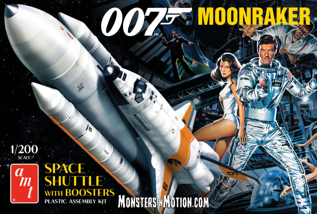 James Bond 007 Moonraker 1/200 Scale Space Shuttle with Booster Rocket Model Kit RE-Issue