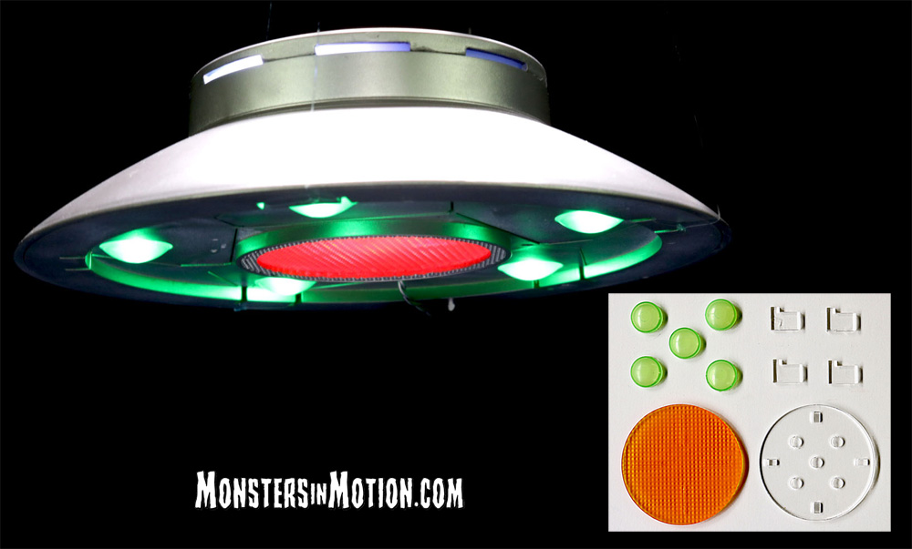 Invaders Flying Saucer U.F.O. 1/72 Scale Model Kit Accessory Parts Set for Aurora Re-Issue