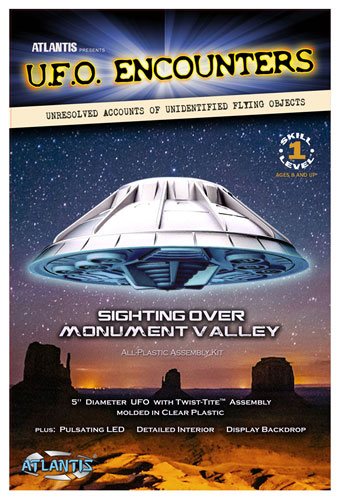 Monument Valley UFO Clear 5-Inch Model Kit with Lights