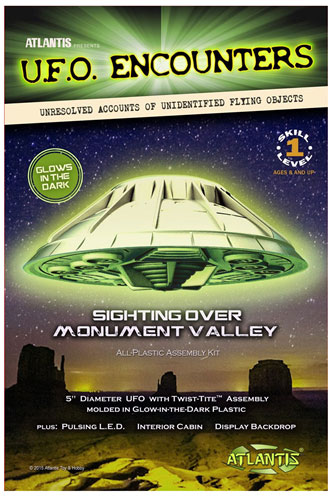 Monument Valley UFO Glow-In-The-Dark 5-Inch Model Kit with Lights