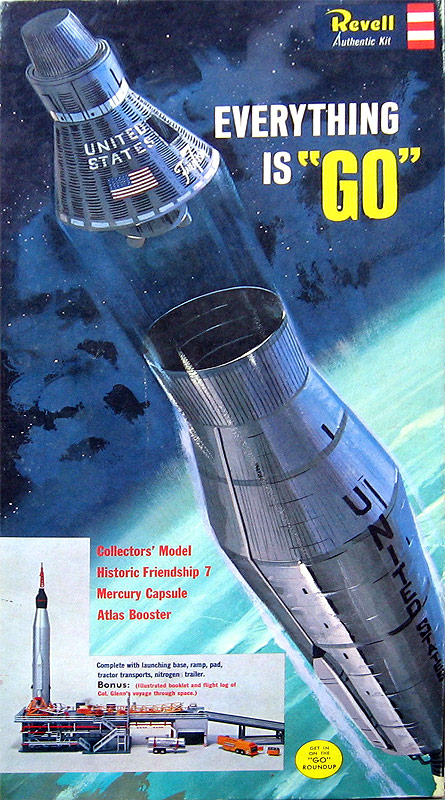 Mercury Capsule and Atlas Booster with Gantry 1/110 Scale Revell Reissue Model Kit Friendship 7