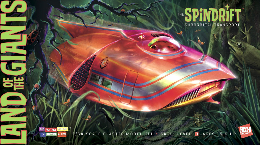 Land of the Giants Spindrift 1/64 Scale Model Kit Re-Issue