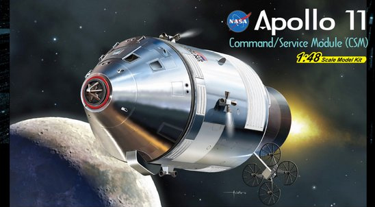 Apollo 11 Command / Service Module 1/48 Scale Model Kit