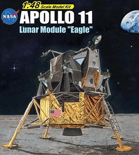 "Apollo 11 Lunar Module ""Eagle"" 1/48 Scale Model Kit"