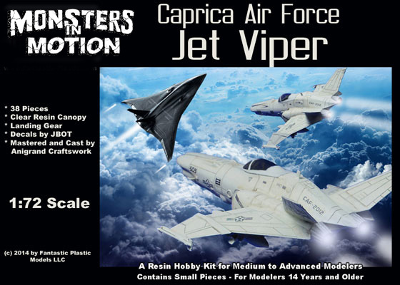 Battlestar Galactica 2003 Caprica Air Force Colonial Jet Viper Resin Model Kit