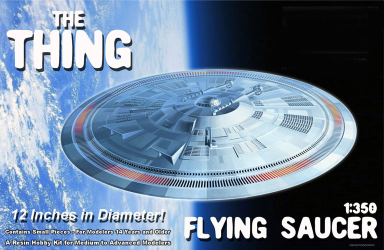 The Thing 1982 Alien Saucer 1/350 Scale Resin Model Kit